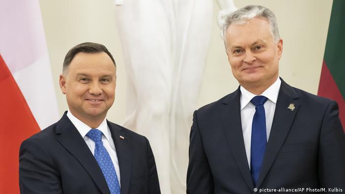 Президенты Польши и Литвы Анджей Дуда и Гитанас Науседа (фото из архива)