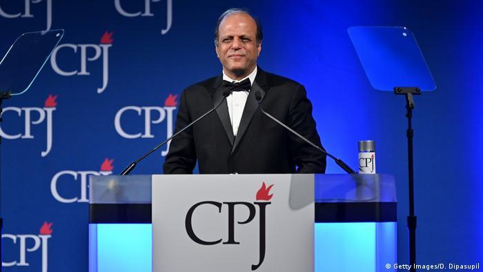 Zaffar Abbas Verleihung International Press Freedom Awards