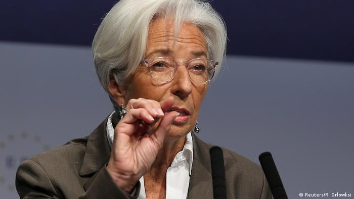 Close-up picture of ECB President Christine Lagarde