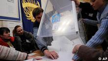 Ukraine Wahlen Stimmauszählung