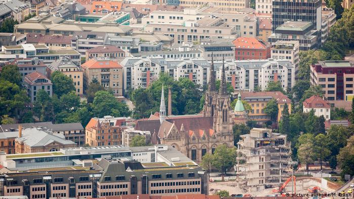 Жилые и офисные здания в Штутгарте