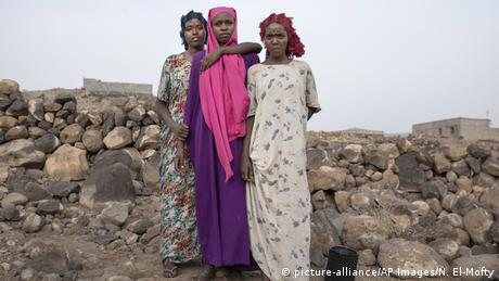 Die Äthiopischen Flüchtlinge Hamdiya, Ikram, Safeya (picture-alliance/AP Images/N. El-Mofty)
