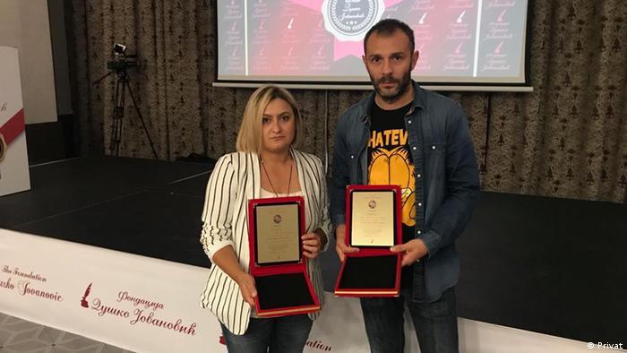 Avdo Avdic und Azra Omerovic Journalisten aus Bosnien und Herzegowina