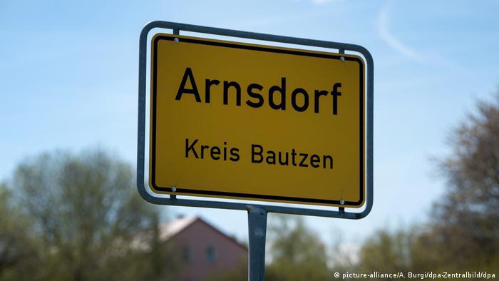 A cidade de Arnsdorf fica próxima de Dresden