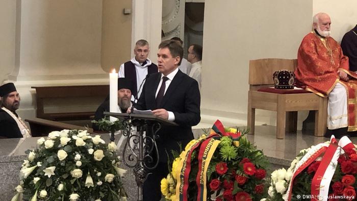 Игорь на церемонии захоронения останков Кастуся Калиновского
