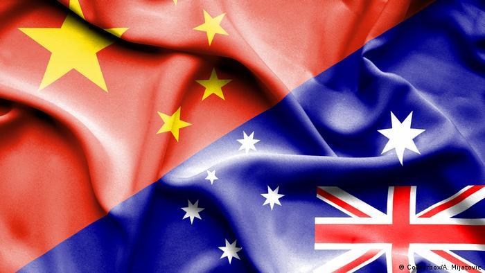 Australia China flags
