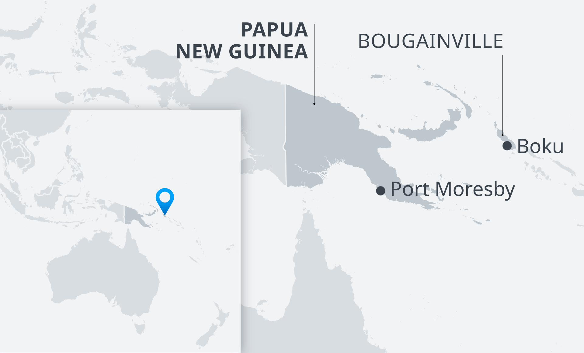 Map of Papua New Guinea with Bougainville EN