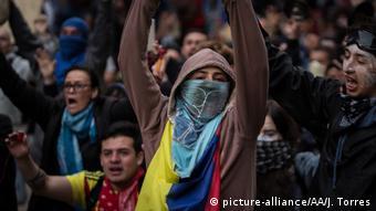 Anti-Regierungsproteste in Kolumbien