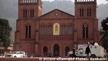 UN-Schutztruppe vor Kirchengebäude Bangui Zentralafrikanische Republik