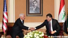 Mike Pence im Irak Erbil Kurdistan