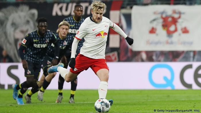Fußball Bundesliga RB Leipzig vs 1.FC Köln Tor Forsberg 2:0 (Getty Images/Bongarts/M. Hitij)