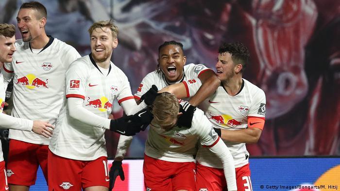 Fußball Bundesliga RB Leipzig vs 1.FC Köln Tor Laimer 3:0 (Getty Images/Bongarts/M. Hitij)