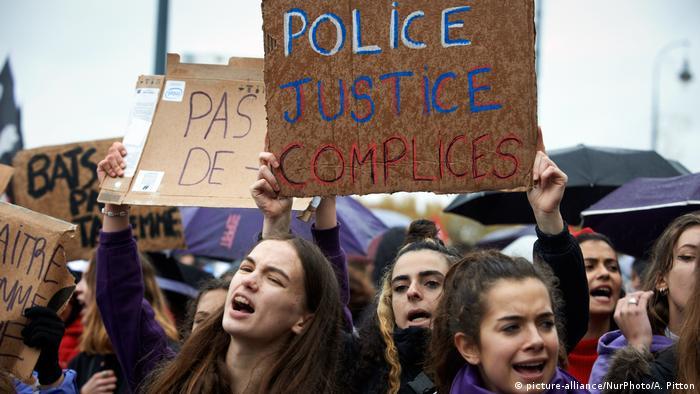 Nationaler Aktionstag gegen Geschlecht und sexuelle Gewalt in Toulouse (picture-alliance/NurPhoto/A. Pitton)