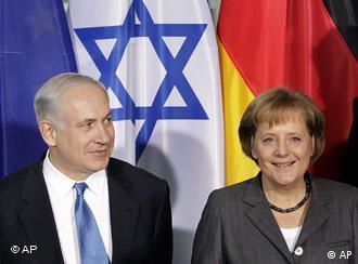 German Chancellor Angela Merkel and Israeli Prime Minister Benjamin Netanyahu