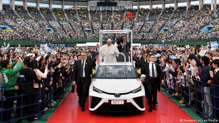 While visiting Nagasaki, Pope Francis blasted the demise of global arms control treaties and the stockpiling of nuclear weapons
