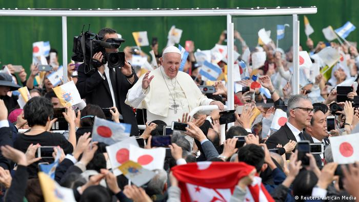 Pope Francis in Nagasaki, Japan