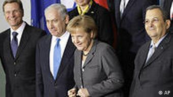 Merkel and Netanyahu in 2010