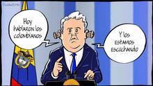 Karikatur von Vladdo zu Kolumbien Präsident Iván Duque