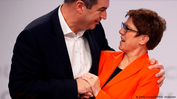 Leipzig CDU-Parteitag AKK und Söder