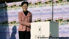 Hongkong Lokalwahlen Regierungschefin Carrie Lam