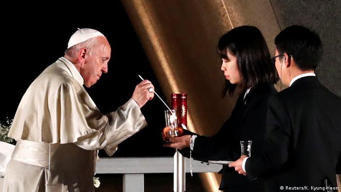 Japan   Papst Franziskus in Hiroshima