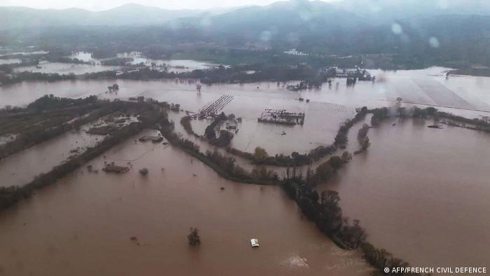 Наводнение во французском регионе регионе Прованс - Альпы - Лазурный берег