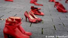 Belgien Demo Gegen Gewalt gegen Frauen in Brüssel