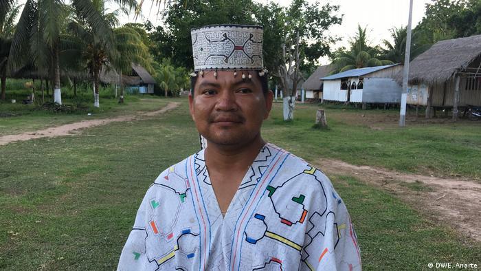 Efer Silvano, jefe de la comunidad indígena de Santa Clara de Uchunya.