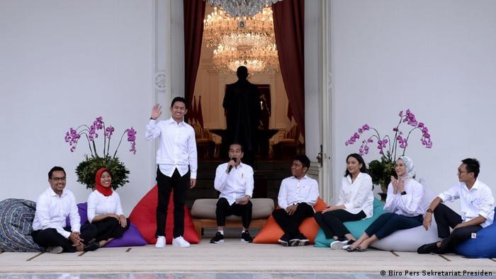 Indonesia Jakarta - Expertenteam von Präsident Joko Widodo - Belva Devara - CEO Ruangguru (Biro Pers Sekretariat Presiden)