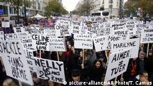 Demonstration gegen Gewalt an Frauen in Paris