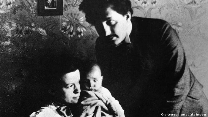 Марич и Айнщайн със сина им Ханс Алберт