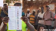 José Mário Vaz, President of Guinea-Bissau. And Photos of the vote in Guinea-Bissau. Place: Bissau Date: 25.11.2019 Author: Braima Darame, DW Key word: Elections in Guinea-Bissau