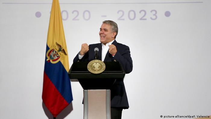 """El presidente colombiano Iván Duque se dirige a los alcaldes electos del país en el marco de su gran conversación nacional"""" (24.11.2019)"""