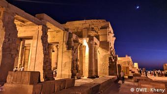 Kom Ombo Tempel in Egypt lit at night