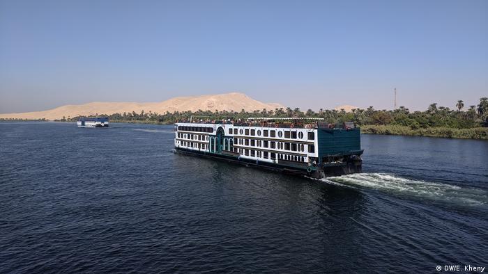 A Nile cruise boat