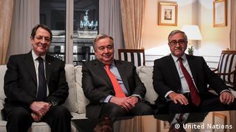 Από τη συνάντηση Αναστασιάδη-Ακιντζί με τον Γενικό Γραμματέα του ΟΗΕ Γκουτέρες στο Βερολίνο (25.11.19)