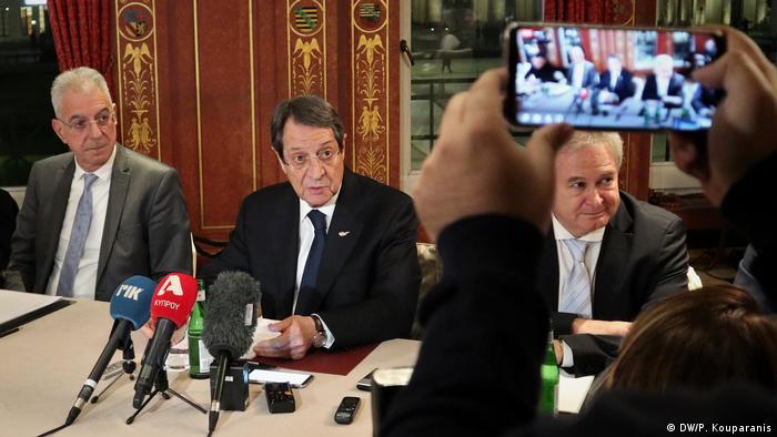 Deutschland | Treffen Antonio Guterres mit dem Präsidenten Zyperns Nikos Anastasiadis und dem türkisch-zyprischen Volksführer Mustafa Akinci