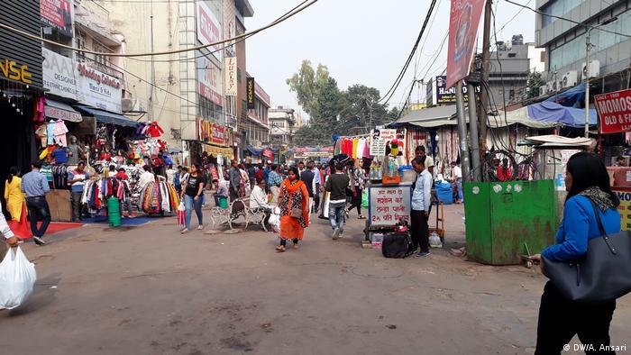 Indien Wintermarkt in Neu-Delhi