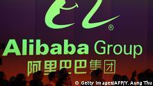 Alibaba's stock trading debut on the Hong Kong stock exchange