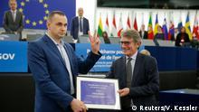 Frankreich David Sassoli überreicht den Sacharow-Preis an Oleg Senzow