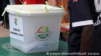 Photo of the logo of the National Election Commission of Guinea-Bissau (picture-alliance/Xinhua/X. Jianqiao)