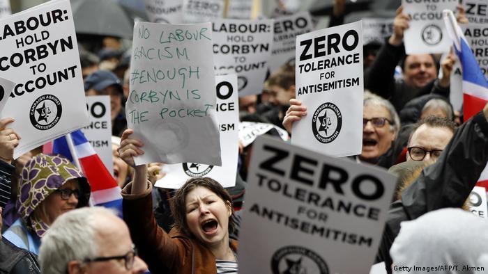 An anti-Semitism demonstration in London