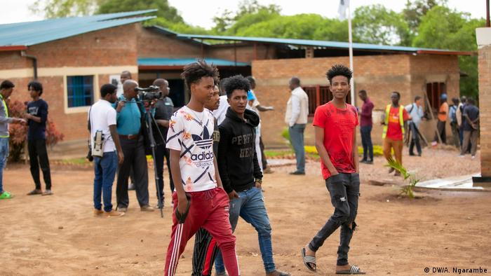 Young refugees in the Gashora Transit Center in Ruanda