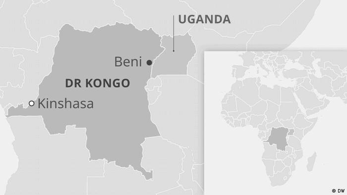 Karte DR Kongo, Beni
