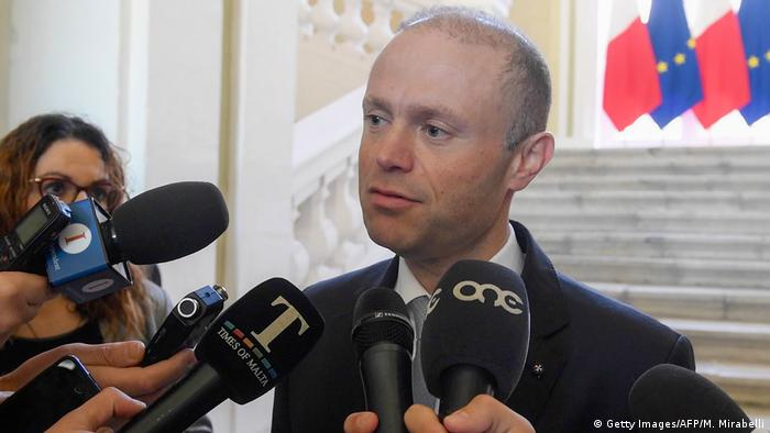 Maltese prime minister Joseph Muscat answers questions from the press