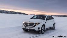 Elektrisch auf Eis: Wintererprobung des Mercedes-Benz EQC EQC on Ice: Electric on ice: winter trials of the EQC