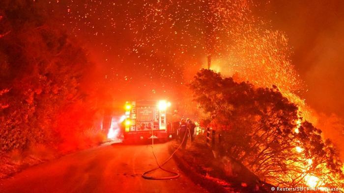USA   Waldbrände in Kalifornien (Reuters/SBCFire/M. Eliason)
