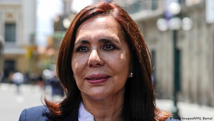 Karen Longaric | Außenministerin Bolivien (Getty Images/AFP/J. Bernal)