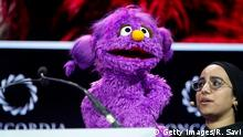NEW YORK, NEW YORK - SEPTEMBER 23: Basma, Muppet From Ahlan Simsim, Sesame Street, speaks onstage during the 2019 Concordia Annual Summit - Day 1 at Grand Hyatt New York on September 23, 2019 in New York City. (Photo by Riccardo Savi/Getty Images for Concordia Summit)