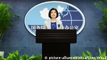 China Peking PK Zhu Fenglian Sprecherin Büro für Taiwan-Angelegenheiten des Staatsrates